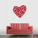 Abstract Broken Heart Wall Decal