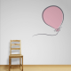 Carina Red Balloon Wall Quote Decal