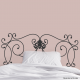 Florentine Iron Headboard Wall Decal