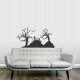 Graveyard Scene Wall Decal