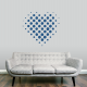 Halftone Heart Wall Art Decal