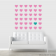 Heart Grid Wall Decal