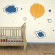 Hot Air Balloon with Clouds Wall Art Decal