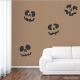 Jack-O-Lantern Faces Wall Decal