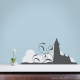 Lighthouse in the fog Wall Decal