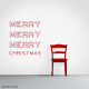 Merry Merry Merry Christmas Wall Art Decal