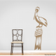 Pelican on Pier Post Wall Decal - Black