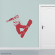 Snowboarder Wall Decal