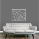 Spiderweb Frame Wall Decal