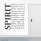 Spirit Strength and Courage Wall Art Decal