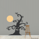 Spooky Moon and Tree Wall Decal