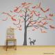 creepy tree of bats vinyl wall art decal sticker