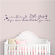 "The perfect bedtime quote to place near your little one's bed, ""Twinkle twinkle little star do you know how loved you are"" Wall Quote Decal."