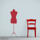 Vintage Inspired Dress Form Wall Decal