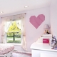 Pink Grid Heart Wall Decal