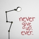 Never give up. Ever. Wall Quote Decal