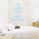 Keep Calm And Ride Wall Decal