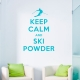 Keep Calm And Ski Wall Decal