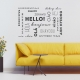 Hello Wall Words Wall Quote Decal