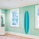Retro Surfboard Wall Decal