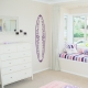 Floral Surfboard Wall Decal
