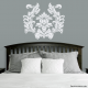 Damask Pattern Wall Art Decal