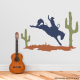 Desert Cowboy and Horse Wall Decal