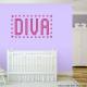 Girls Diva Wall Decal