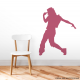 Female Dancer Wall Decal