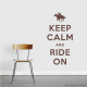 Keep Calm and Ride On Equestrian Wall Quote Decal