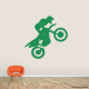 Motocross Jump Wall Art Decal