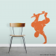 Skateboarder Handplant Wall Decal