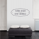 Work Hard Stay Humble Wall Quote Decal