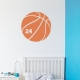 Basketball and Number Wall Art Decal