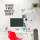 Do More Happy Wall Quote Decal