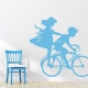 Boy and Girl on Bike Wall Decal