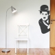 Charlie Chaplin Corner Wall Art Decal
