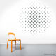 Halftone Circle Wall Art Decal