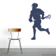 Lacrosse Player Wall Art Decal