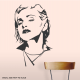 Madonna Bust Wall Decal
