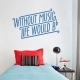 Without Music Wall Quote Decal