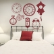 Clock Faces Wall Decal