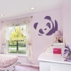 Violet Cute Baby Panda Wall Art Decal