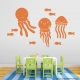 Persimmon Orange Jellyfish Fun Wall Decal