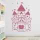 Lipstick Pink Princess Castle Wall Decal