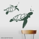Dark Green Swimming Turtles Wall Decal