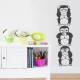 3 Wise Monkeys Wall Decal