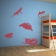 Amphibians Red Wall Decal