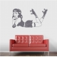 Derby Pin-Up Girl Wall Decal