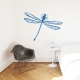 Dragonfly Blue Wall Decal